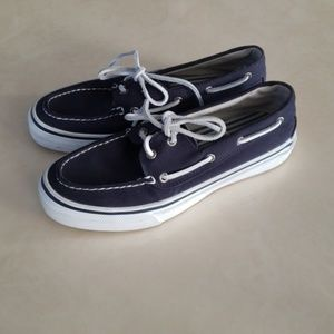 Sperry navy blue topsiders 8
